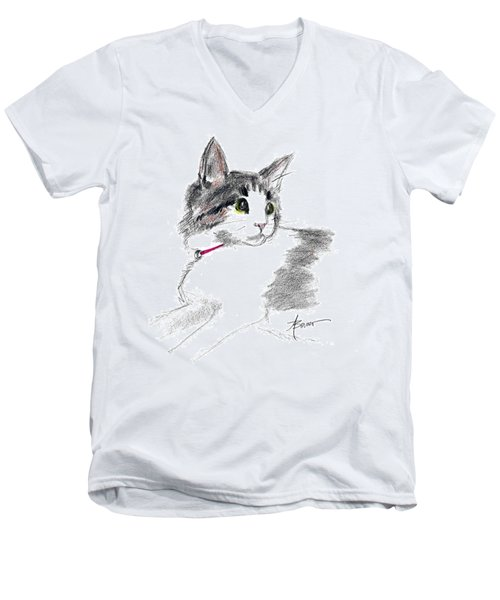Baby Kitten Men's V-Neck T-Shirt