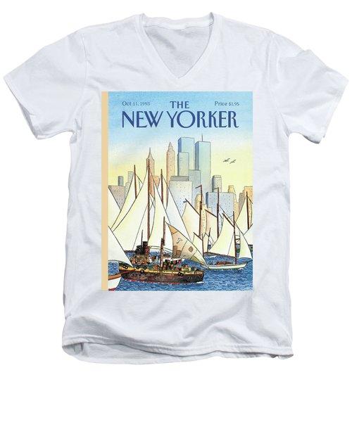 Back In The New World Men's V-Neck T-Shirt