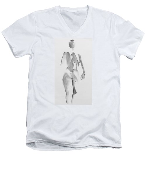 Back Rygg  Men's V-Neck T-Shirt