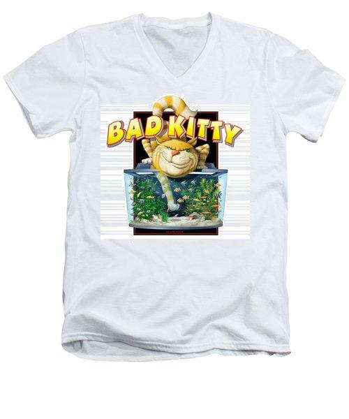 Bad Kitty Men's V-Neck T-Shirt