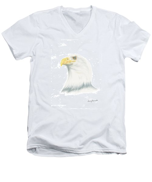 Bald Eagle Men's V-Neck T-Shirt by Terry Frederick