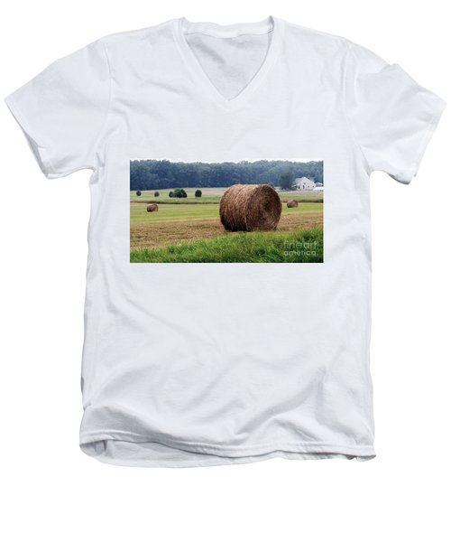 Bales In Solebury Men's V-Neck T-Shirt