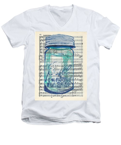 Ball Jar Classical  #132 Men's V-Neck T-Shirt