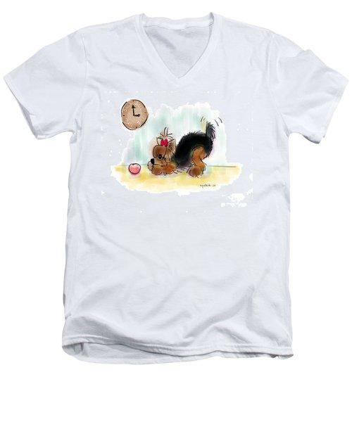 Ball Time Men's V-Neck T-Shirt by Catia Cho
