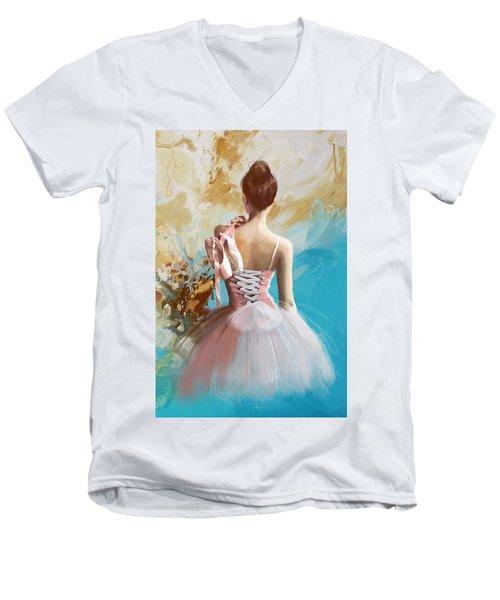Ballerina's Back  Men's V-Neck T-Shirt