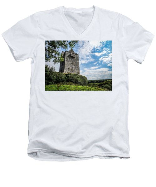 Ballinalacken Castle In Ireland's County Clare Men's V-Neck T-Shirt