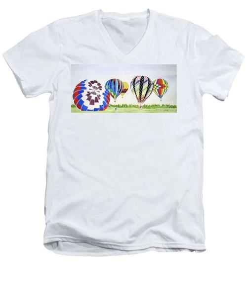 Balloons Men's V-Neck T-Shirt by Carol Flagg