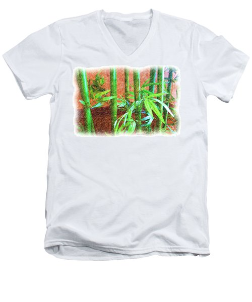 Bamboo #1 Men's V-Neck T-Shirt
