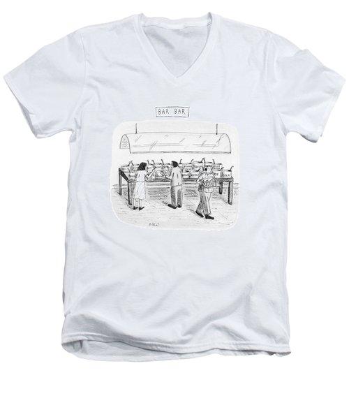 Bar Bar Men's V-Neck T-Shirt