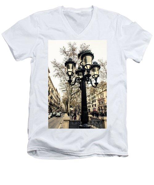 Barcelona - La Rambla Men's V-Neck T-Shirt
