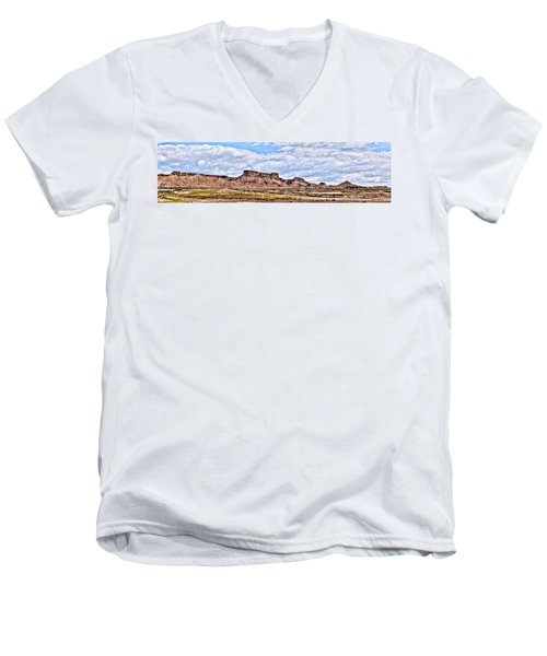 Bardenas Desert Panorama 1 Men's V-Neck T-Shirt