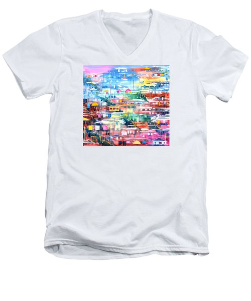 Barrio El Cerro De Yauco Men's V-Neck T-Shirt