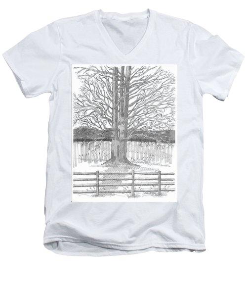 Barrytown Tree Men's V-Neck T-Shirt