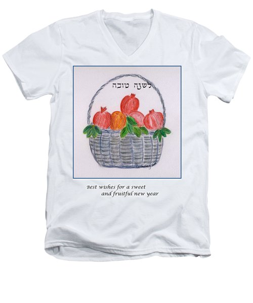 Basket For The New Year Men's V-Neck T-Shirt