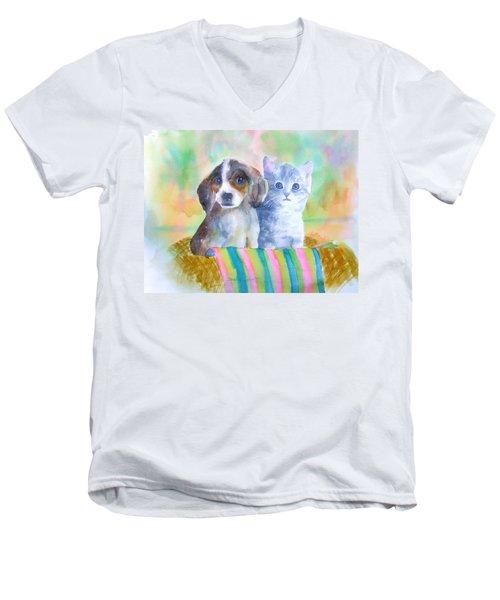 Basket Full Of Love Men's V-Neck T-Shirt