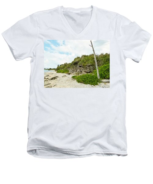 Men's V-Neck T-Shirt featuring the photograph Bat Cave by Amar Sheow