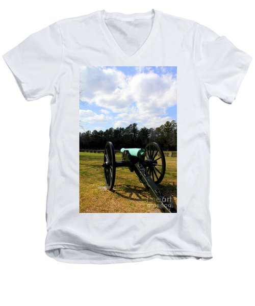 Battlegrounds Of Chattanooga Men's V-Neck T-Shirt by Kathy  White