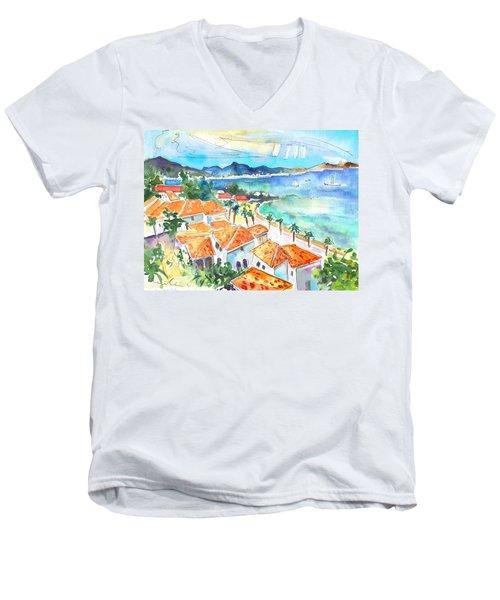 Bay Of Saint Martin Men's V-Neck T-Shirt