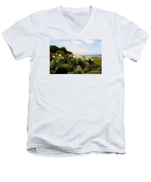 Bay View Bristol Rhode Island Men's V-Neck T-Shirt by Tom Prendergast