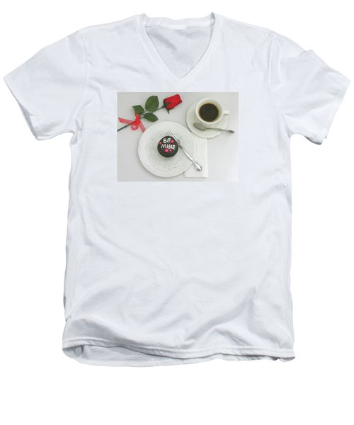 Men's V-Neck T-Shirt featuring the photograph Be Mine by Sandi OReilly
