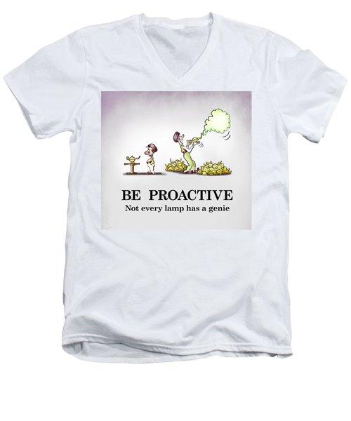 Be Proactive Men's V-Neck T-Shirt