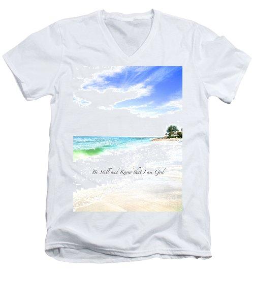 Be Still #3 Men's V-Neck T-Shirt