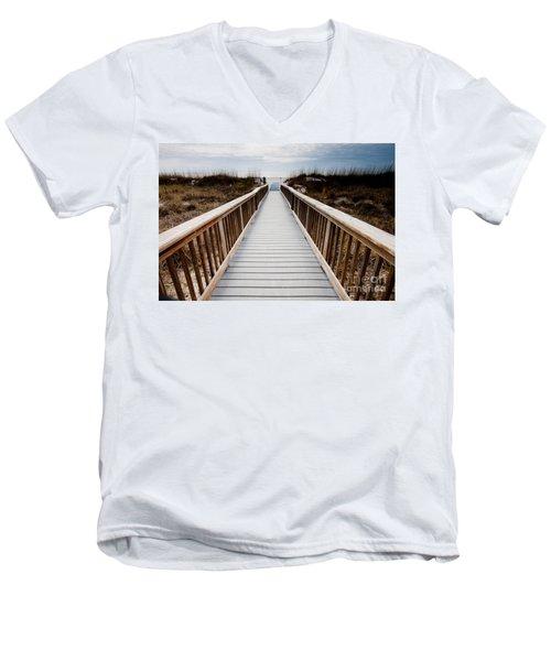 Beach Access Hilton Head Men's V-Neck T-Shirt