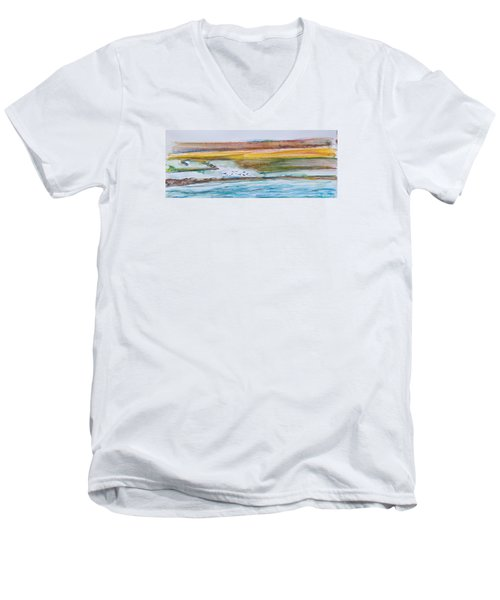 Beach And Sea Men's V-Neck T-Shirt