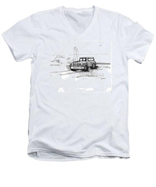 Beach Buggy Ocracoke 1970s Men's V-Neck T-Shirt