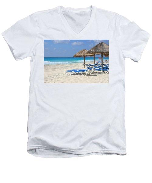 Beach Chairs In Cancun Men's V-Neck T-Shirt