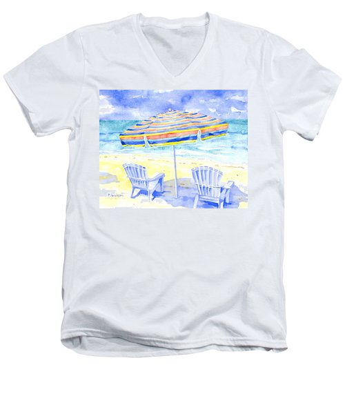 Beach Chairs Men's V-Neck T-Shirt