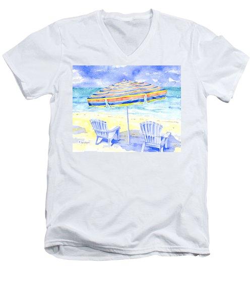 Beach Chairs Men's V-Neck T-Shirt