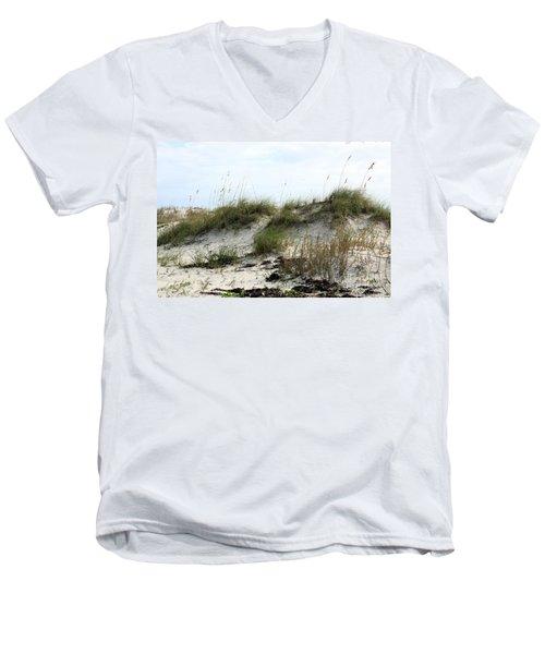 Men's V-Neck T-Shirt featuring the photograph Beach Dune by Chris Thomas