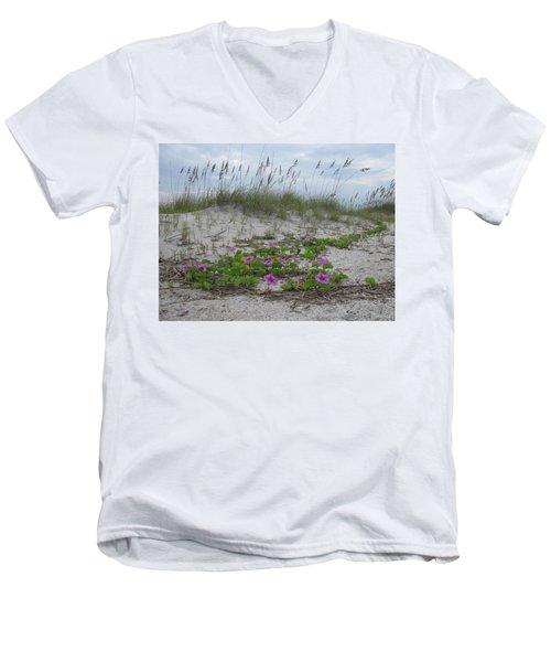 Beach Flowers Men's V-Neck T-Shirt