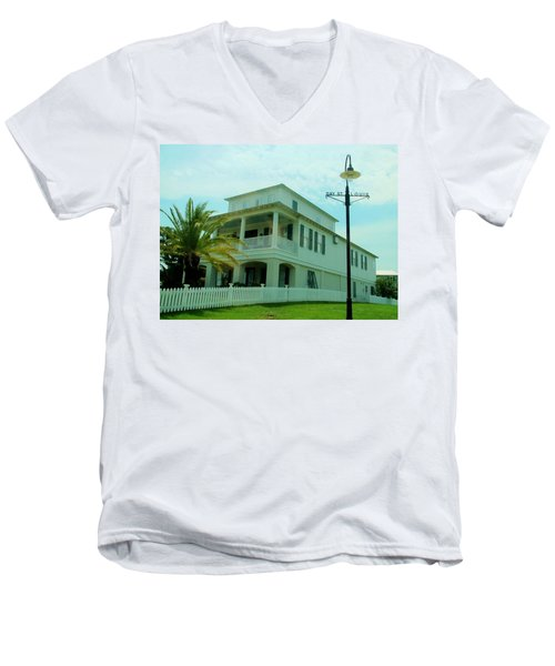 Beach House - Bay Saint Louis Mississippi Men's V-Neck T-Shirt