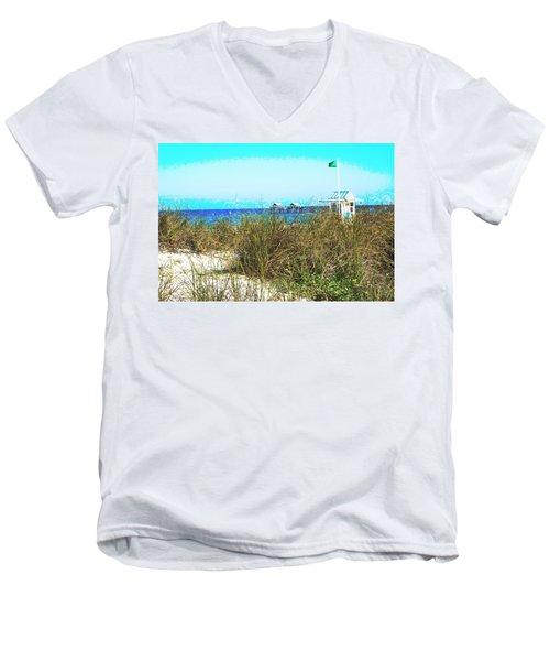 Beach Serenity Men's V-Neck T-Shirt