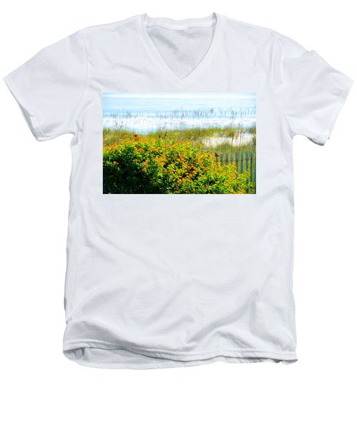 Beachy Butterflies  Men's V-Neck T-Shirt