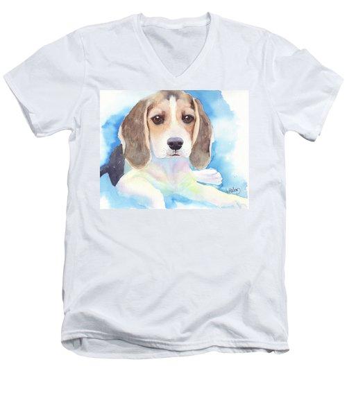Beagle Baby Men's V-Neck T-Shirt