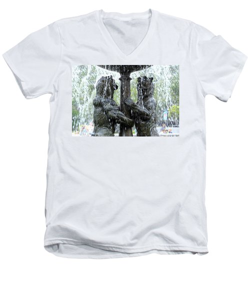 Bear Fountain Men's V-Neck T-Shirt