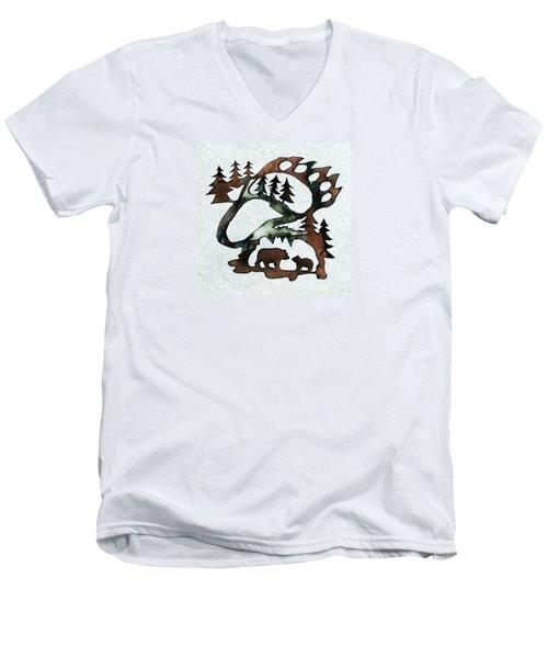 Bear Paw II 21 Men's V-Neck T-Shirt
