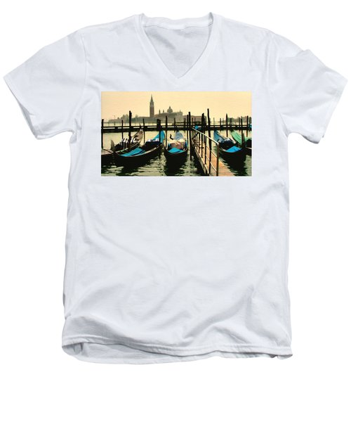 Men's V-Neck T-Shirt featuring the photograph Beautiful Day In Venice by Brian Reaves