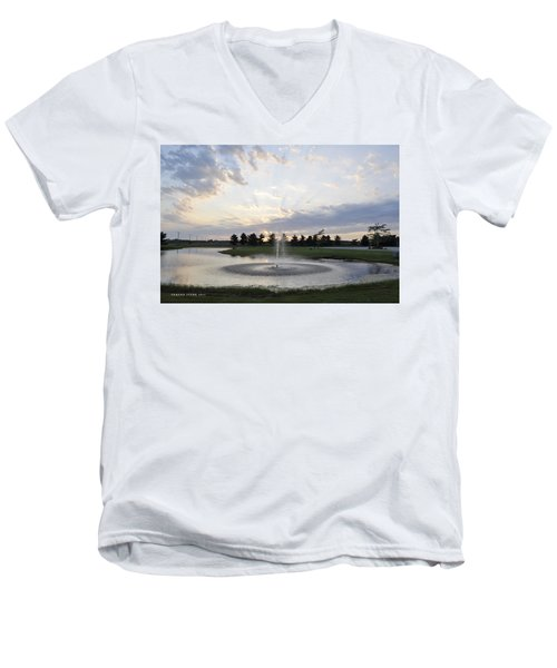 Beautiful Day Men's V-Neck T-Shirt by Verana Stark