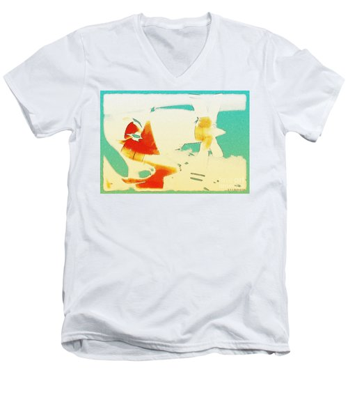 Men's V-Neck T-Shirt featuring the photograph Fixed Wing Aircraft Poster by R Muirhead Art