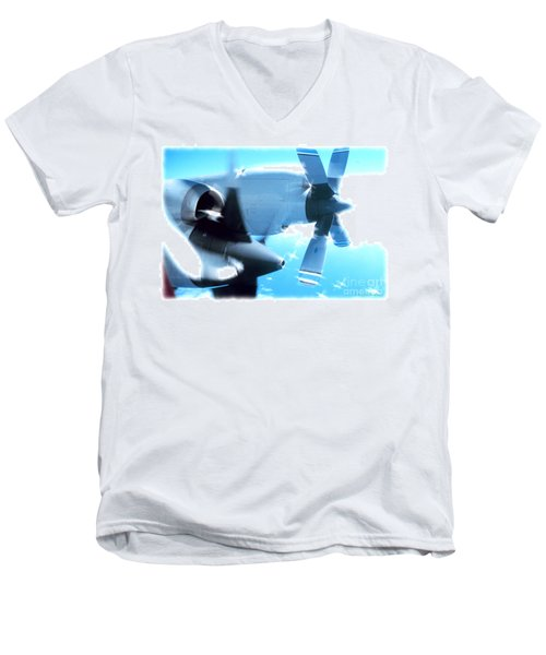 Men's V-Neck T-Shirt featuring the photograph Beautiful Fixed Wing Aircraft by R Muirhead Art