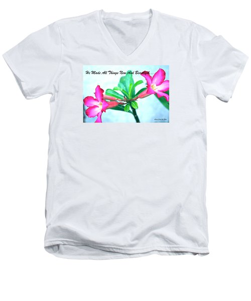 Men's V-Neck T-Shirt featuring the photograph Beautiful Flower by Lorna Maza