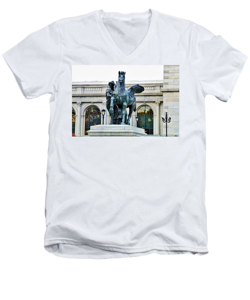 Men's V-Neck T-Shirt featuring the photograph Beautiful Pegsus by Alice Gipson