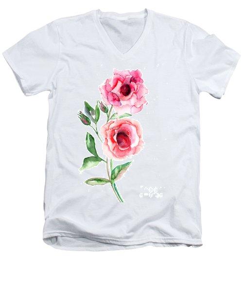 Beautiful Roses Flowers Men's V-Neck T-Shirt