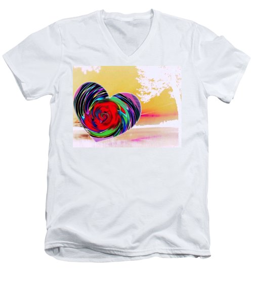 Men's V-Neck T-Shirt featuring the digital art Beautiful Views Exist by Catherine Lott