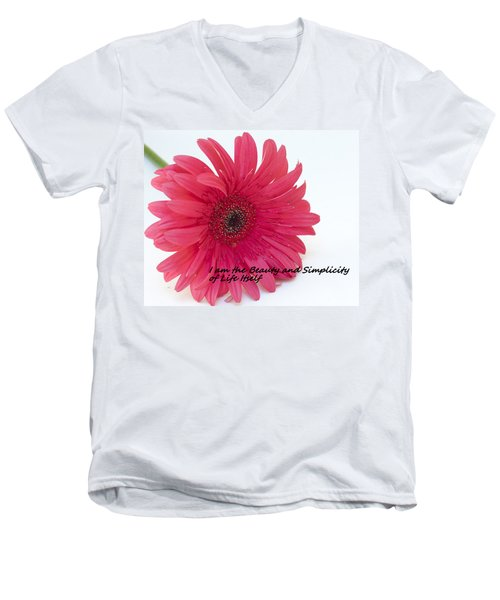 Men's V-Neck T-Shirt featuring the photograph Beauty And Simplicity by Patrice Zinck