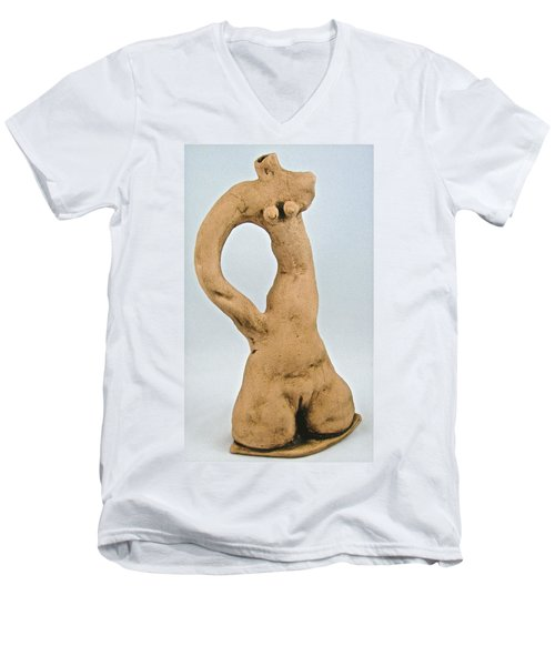 Beauty Must Pose For Us Men's V-Neck T-Shirt by Mario Perron